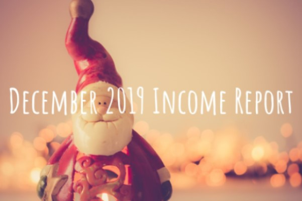 The income report from side hustle for December 2019