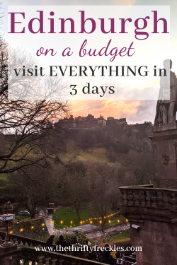 pinterest image of Edinburgh on a budget