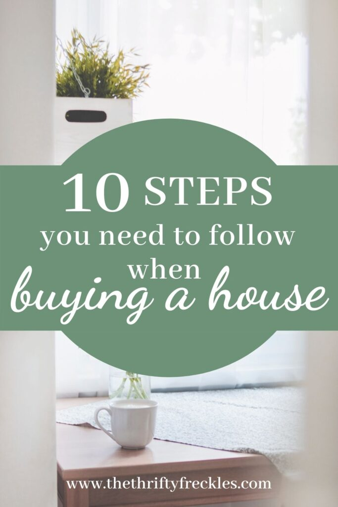 10 steps to follow when buying a house