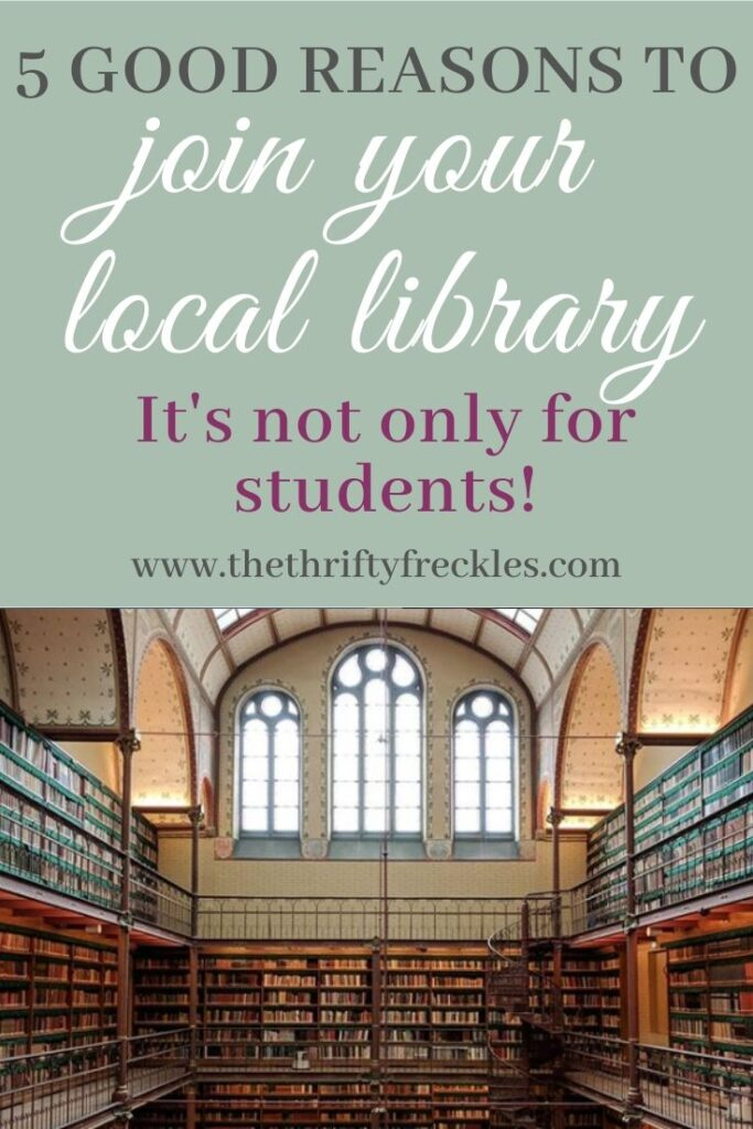 5 good reasons why you should join your local library. There is plenty for you to enjoy and it is definitely not only for students!