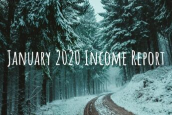 This is the income report from side hustle for January 2020