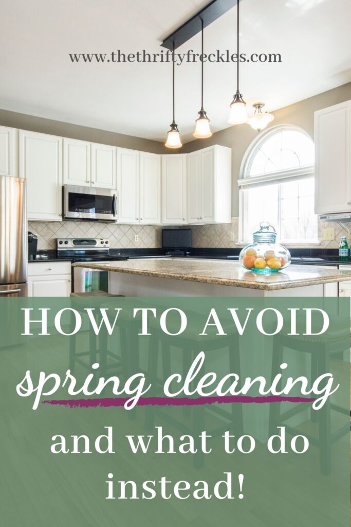 This post shows how to avoid spring cleaning. Don't spend all your free time cleaning, do this instead.