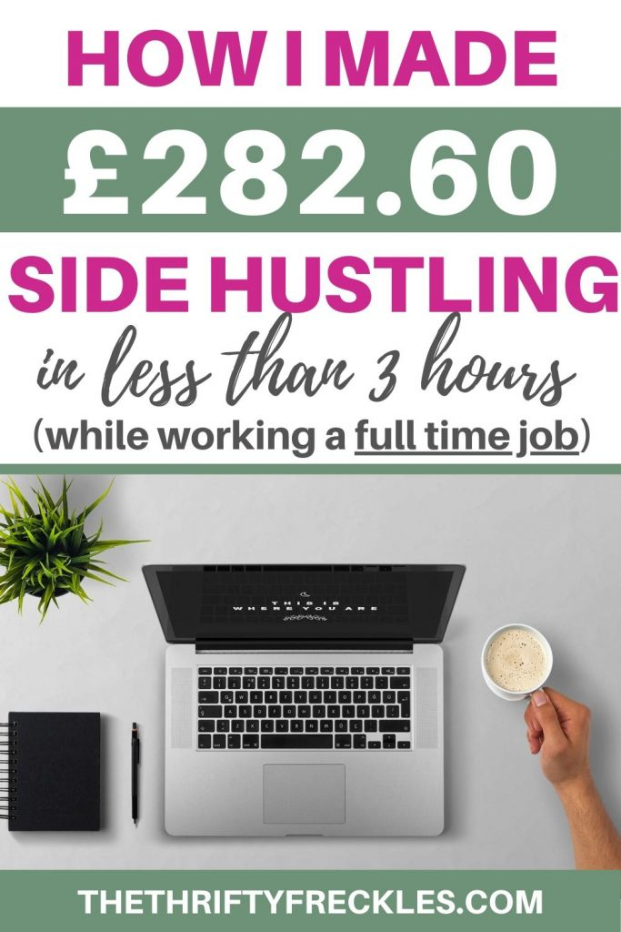 This is how much I made in my side hustle in less than 3 hours while working full time. #sidehustle #sidehustleincomereport #makemoney #sidehustleideas #sidehustleideasfromhome