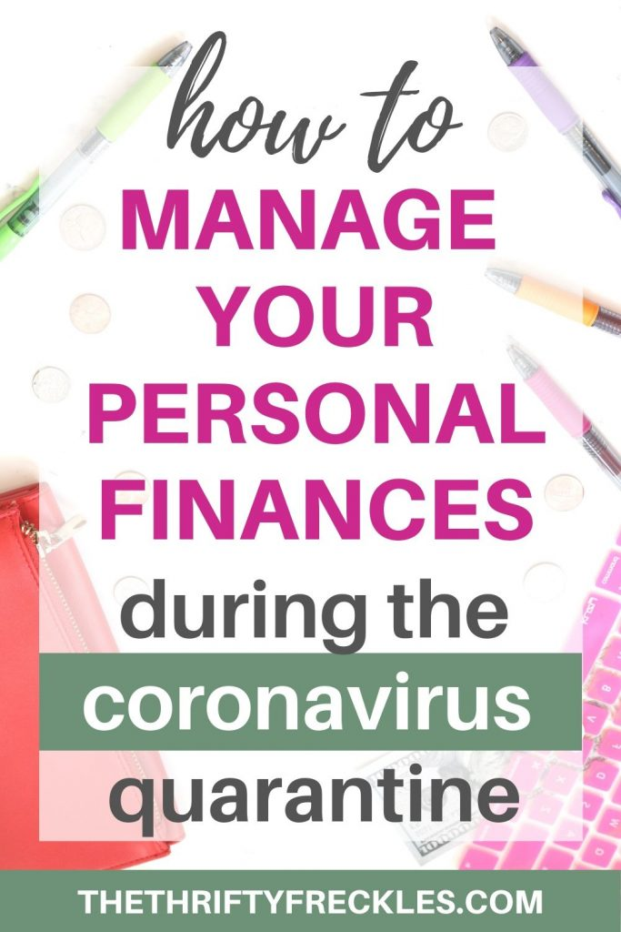 how to manage personal finances during quarantine