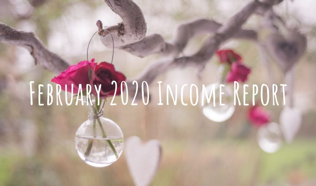 February 2020 Income Report from side hustle
