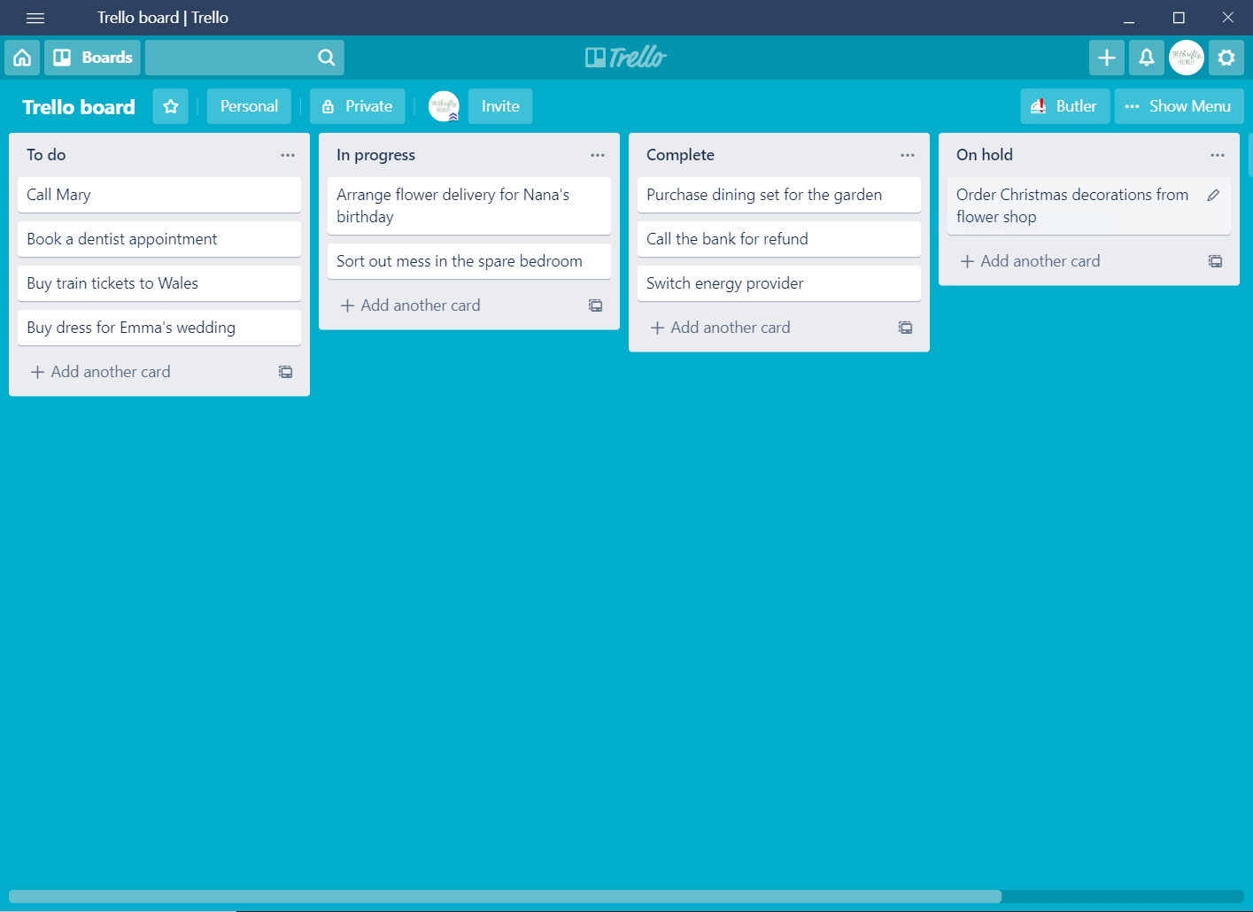 how to be organized with a trello board