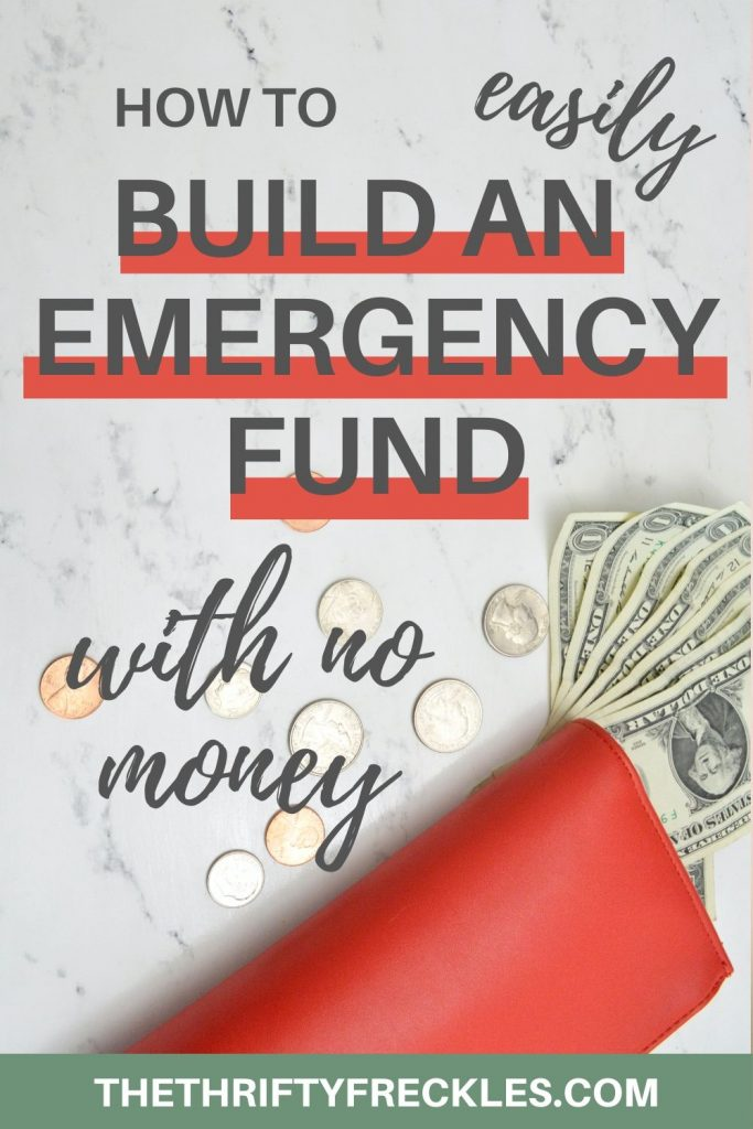 how to build an emergency fund with no money